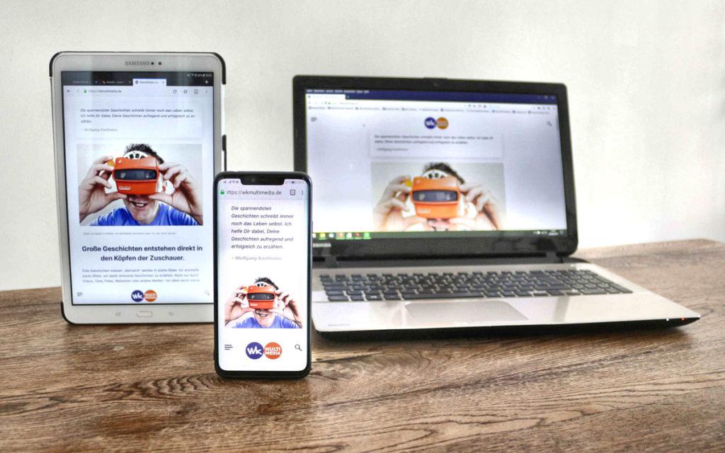 Webseiten erstellen lassen für alle Displays - Mobile first.